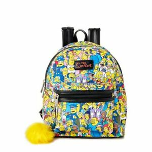 The Simpsons All Over Print Characters Mini Backpack by MAD Engine - New, With T