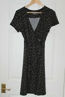 Apricot ~ Black Paisley dress ~ Size 12