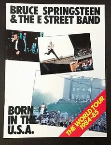 BRUCE SPRINGSTEEN Born In The USA 1984-85 WORLD TOUR PROGRAM