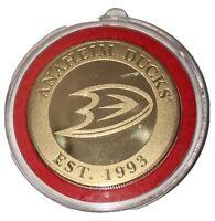 1993 ANAHEIM MIGHTY DUCKS COIN NHL RARE HIGHLAND MINT CERT.