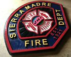 Fire Department Sierra Madre 3D routed wood patch plaque sign Custom Carved