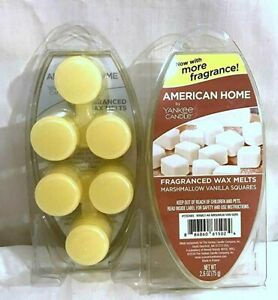2 YANKEE Candle MARSHMALLOW VANILLA Sweet FOOD Scented Fragrance WAX Melts LOT