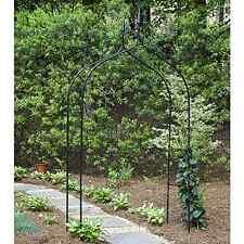 New Gardman Black Steel Gothic Arch Arbor Trellis Garden Patio Outdoor Wedding