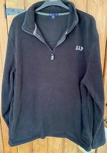 Black Vintage Gap Quarter Zip Fleece Size L