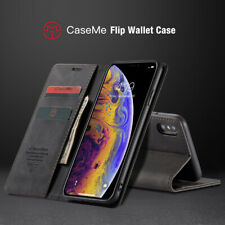 Magnetic Flip Retro Leather Wallet Stand Case Cover For iPhone X XS Max 8 7 Plus