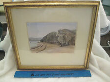1897 Alfred Sells Australian Artist Devon England Salcombe Torcross Paintings
