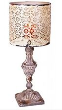 Metal Vintage Table Candle Holder Candle Lamp, Beige White