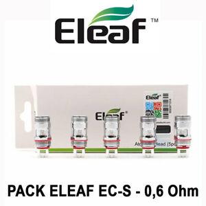 5 Résistances ELEAF EC-S 0,6 Ohm pour MELO 5, MELO 4, MELO 3, MELO 2, IJUST 2