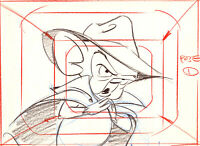 Animaniacs-Pinky And the Brain-Original Production Drawing-Brain Pinky+ the Fog