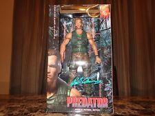 "Arnold Schwarzenegger Signed 18"" Predator Movie Dutch Neca Action Figure Doll"