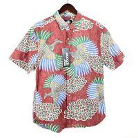 Reyn Spooner Osaka Dream Small S Aloha Birds Hawaiian Shirt Tailored Fit 1733/34