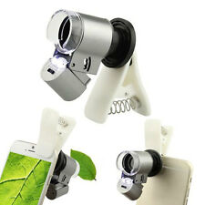 65X Optical Zoom Telescope Camera Clip Microscope Lens for Cell Phone Universal