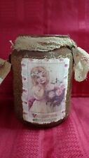 Luminary Candle Jar Cinnamon Hang Tag Rusty Valentine's Day Primitive STPC  22oz