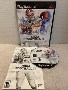 NCAA Football 11 PlayStation 2 PS2 Rare Retro College Game EA Sports Tested E
