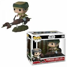 Funko Pop Luke Leia With Speeder Bike Star Wars 228 E 229 Chase