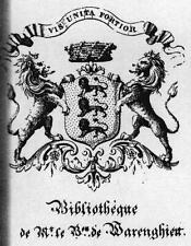 EX-LIBRIS de Camille WARENGHIEN DE FLORY.