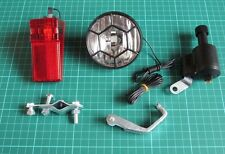 Bicycle Dynamo Lights Set Bike Cycle Safety No Batteries Needed Headlight Rear