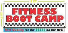 FITNESS BOOT CAMP Banner Sign NEW Larger Size for Gym Personal Trainer Center