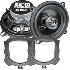 Crunch Lautsprecher 130mm /& Adapterringe für Honda Accord ab 01.1999 Heckablage