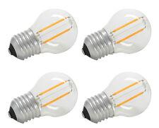 4 x Llyt LED Golfball E27 Filament Lamp - 2W LED 997.952 2700K Efficient