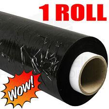 1 X STRONG ROLL BLACK PALLET STRETCH SHRINK WRAP PARCEL PACKING FILM 400MM
