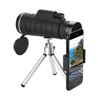 HD Lens 40X60 Zoom Optical Monocular Telescope+ Tripod+ Clip For Universal Phone