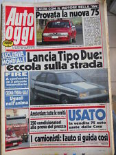 Auto OGGI n°12 1987 Prova della nuova Alfa 75 6V 3.0 motore della 164  [Q202]