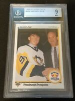 Jaromir Jagr 1990-91 Upper Deck Hockey #356 Rookie Card RC BGS 9 Mint Penguins