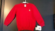 Little Me NWT Boys Pullover Sweater Red Size 4 Great Valentines Gift