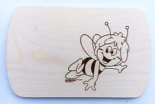 Frühstücksbrettchen Frühstücksbrett Gravur Biene Maja Vesper Holz Namen Brett