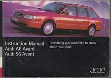 AUDI A6 AVANT & S6 AVANT ( C4 SERIES ) ORIGINAL 1994 OWNERS INSTRUCTION HANDBOOK