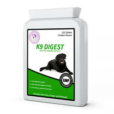 BRAND NEW K9 Digest 120 Digestive health support enzyme tablets for dogs