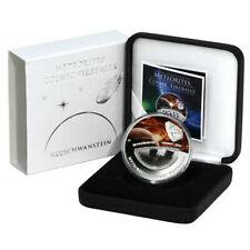 FIJI 2012 1$ Neuschwanstein METEORITE Coin Rare Cosmic Fireballs Plated Version