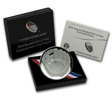 2014-S Baseball Hall of Fame  CLAD HALF-DOLLAR US Mint Box & COA B35