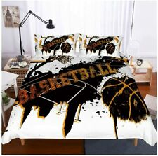 Basketball Bedding Set Twin Size 3D Sports Duvet Cover Set Bedspread for Kids