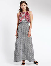 M&S COLLECTION Beachwear Maasai Print Maxi Dress Size 14 SHORT RRP£29.50 BNWT