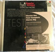 PROJECT 3 POPULAR SCIENCE Stereo Test Record RARE SEALED Audiophile DEMO Pop