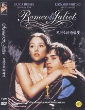 Romeo & Juliet (1968) Olivia Hussey / Leonard Whiting DVD NEW *FAST SHIPPING*