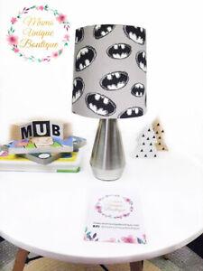 Grey Batman Symbol Superhero Children Nursery Table Lamp Night Light Touch Lamp