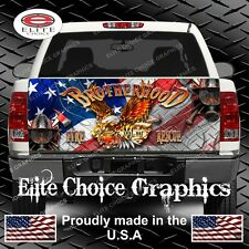 FireFighter War Eagle Flag Truck Tailgate Wrap Vinyl Graphic Decal Sticker Wrap
