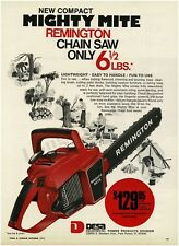 1971 REMINGTON Mighty Mite Red Chainsaw VTG PRINT AD