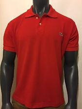 MENS LACOSTE POLO SHIRT SHORT SLEEVE DEVANLAY PANTHER RED  Sz 7 XL