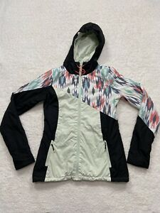 "Volcom  Women's Snowboard Snow Ski Jacket Multi Colored ""Let it storm"" Size S P"