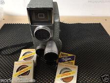 Revere Eyematic CA-2 Eyematic circa 1958 3 lens 8mm movie camera+accessories