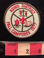 Vtg 1977 Boy Scout NEWO DISTRICT FALL CAMPOREE Misc Jacket Patch S70B