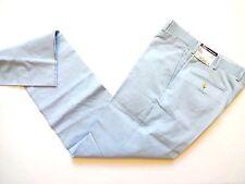 New Ralph Lauren Polo Italy 100% Cotton Light Blue Bradford Pants Slim 38 R