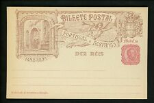Postal Stationery H&G #15 Madeira postal view card 1898 1of8