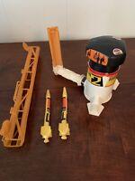 Vintage 1978 Mattel Astro Blast Toy Rocket Launcher - Works W/ 2 Rockets