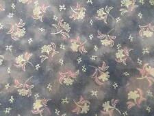 New listing Wtw Fabric Floral Flower Garden Metallic Gold Brown Multi + Quilt