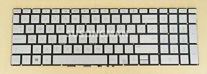 UK Keyboard For HP Pavilion 15-cw0993na 15-cw0994na 15-cw0995na Backlit Silver